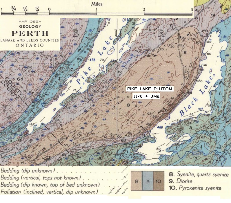 pike lake ontario map Fossils And Geology Of Lanark County Ontario The Pike Lake pike lake ontario map