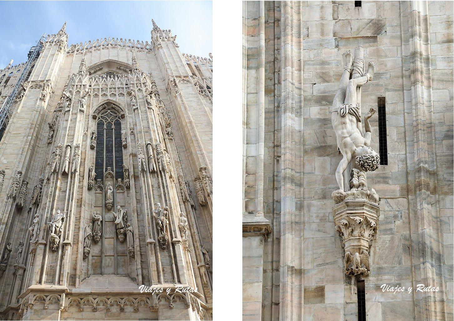 Detalles del Duomo de Milan