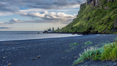 HD wallpaper landscape, Iceland, beach, sea, rocks