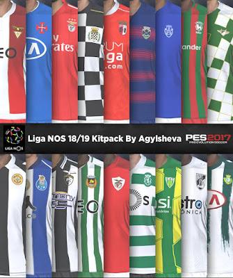 PES 2017 Liga NOS Kitpack by Agylsheva Season 2018/2019