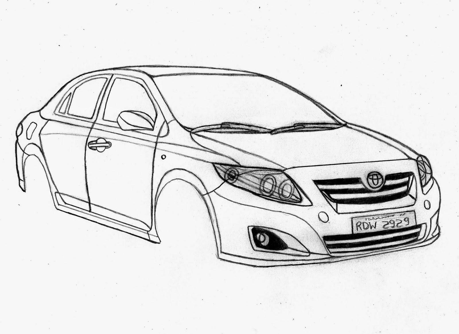 Guuhdesenhos Como Desenhar Um Toyota Corolla