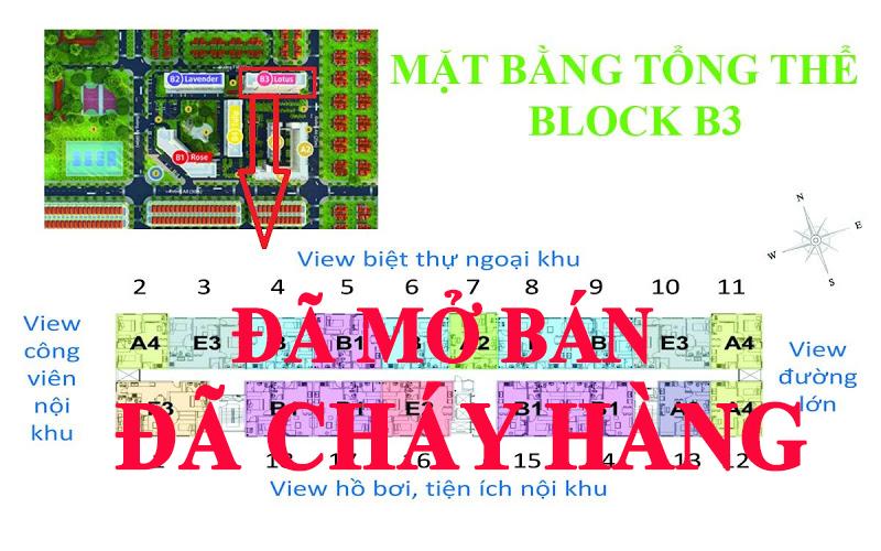 mat bang block B3 GreenTown Bình Tân