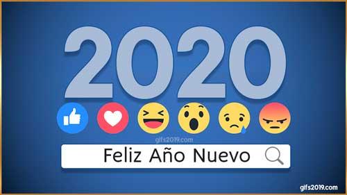 feliz año nuevo 2020 reacciones facebook