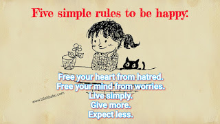 Free your heart from hatred. Free your mind from worries. Live simply. Give more. Expect less, life qoute, happiness qoute
