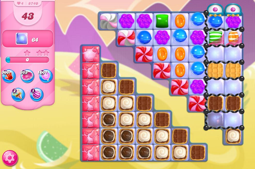Candy Crush Saga level 8740