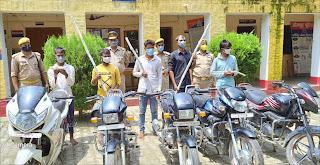 डकैती की योजना बनाते 5 शातिर डकैत गिरफ्तार  | #NayaSaberaNetwork