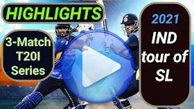 Sri Lanka vs India T20I Series 2021