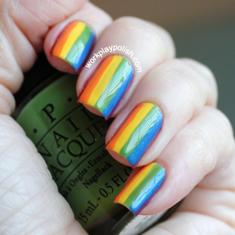 Good Cheer: Rainbow Nail Art