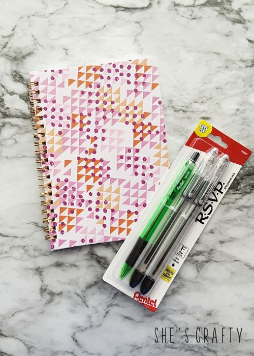How to recover a spiral notebook and make a matching pen