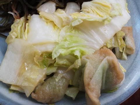 白菜煮浸し 焼肉じゅうじゅう5回目
