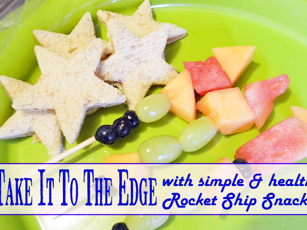 Take It To The Edge with Simple & Healthy Rocket Ship Snacks { #VBS #KidMin #FCBlogger}
