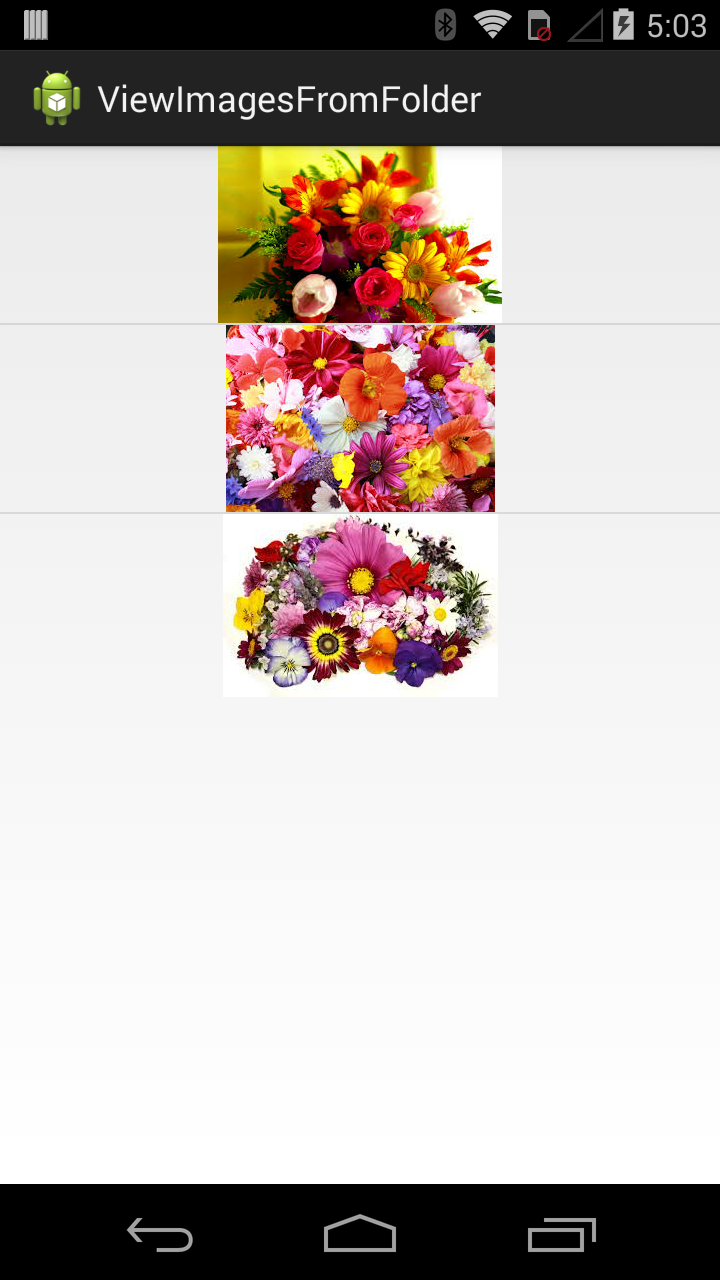 View images from folder in android