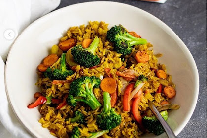 My Veggie Fried Rice With a Little Red Turmeric Recipe