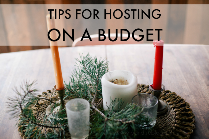 tips for hosting on a budget