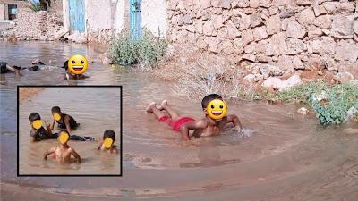 صور لأطفال يسبحون في بركة تثير رواد موقع التواصل فيسبوك