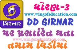Std-3 DD Girnar Home Learning All Subjects Video August-2020(www.wingofeducation.com)