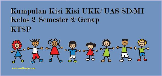 Download kumpulan kisi kisi ukk - uas genap kelas 2 sd/mi mapel pai, pkn, b indonesia, matematika, ipa, ips, b sunda gratis.
