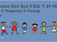 Kisi Kisi UKK/ UAS Kelas 2 SD/ MI Semester 2/ Genap