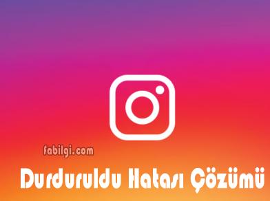 Instagram Durduruldu Hatası Çözümü 2 Yöntem Programsız 2020