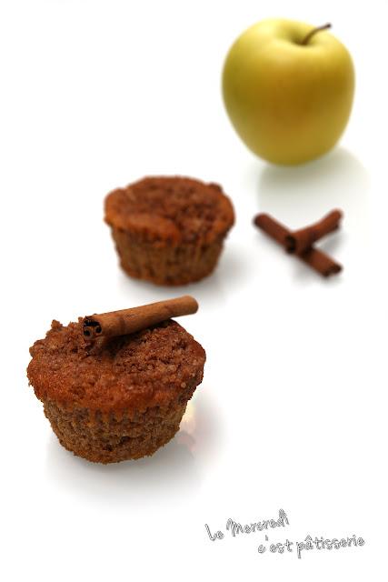 Muffins croustillants à la pomme