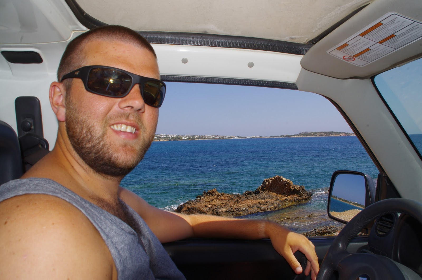 Male roadtripping Paros Island