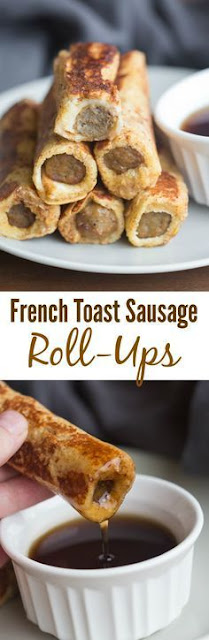 French Toast Sausage Roll Ups