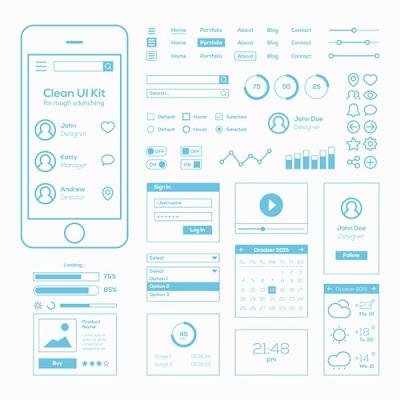 [Free Download] Flat Mobile Web UI Kit