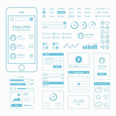 [Free Download] Flat Mobile Web UI Kit