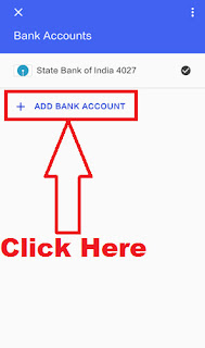 how to add bank account in tez app