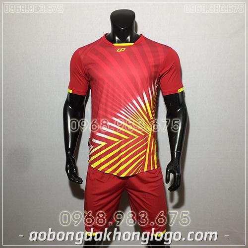 Áo bóng đá ko logo CP TC màu đỏ
