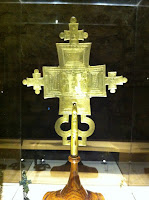 Croix procession, Abyssinie, fin 14es, bze et dorure, Florence Bargello