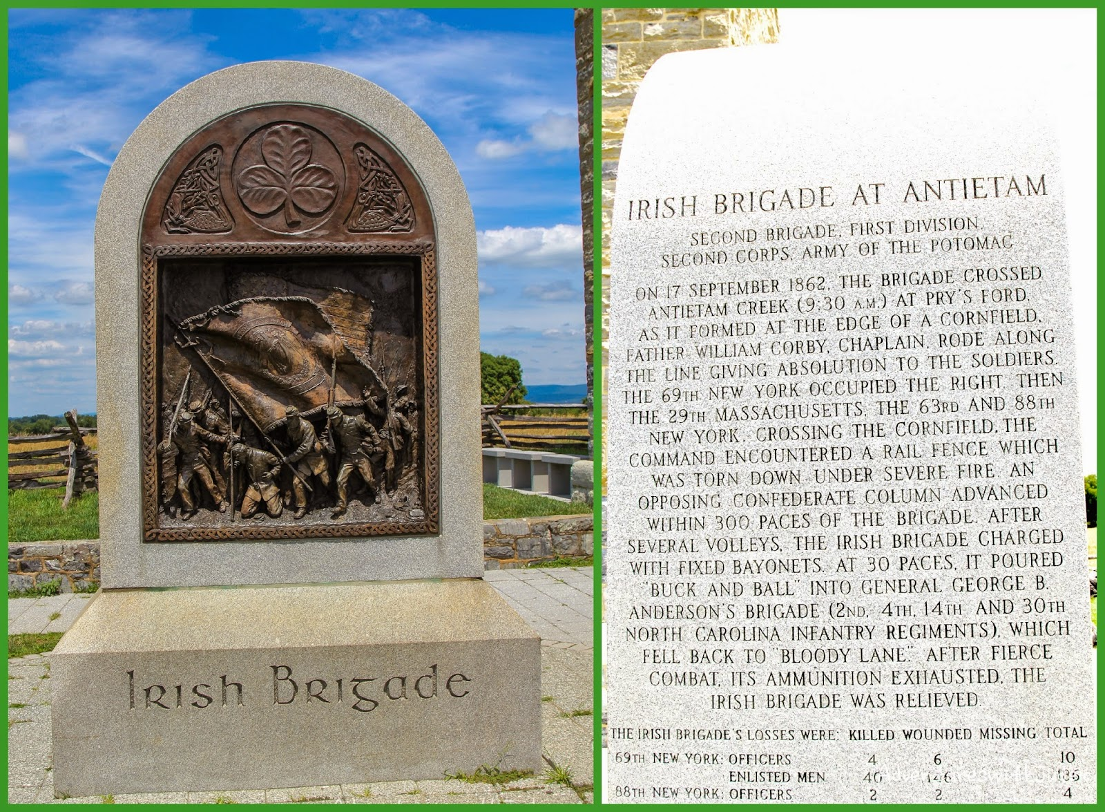 Irish Brigade Memorial at Antietam National Battlefield