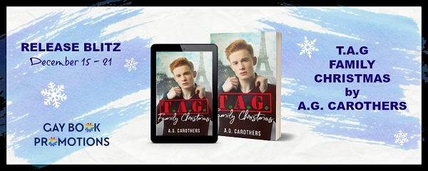 T.A.G. Family Christmas by A.G. Carothers Release Blitz. Gay Book Promotions.