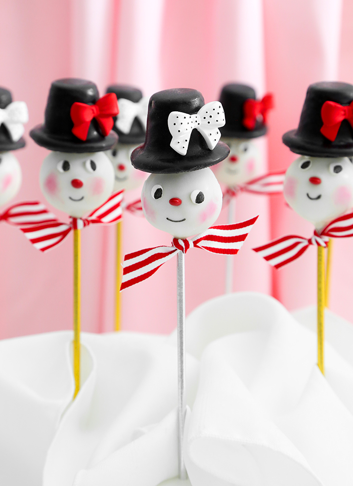 Vintage Snowman Cookie Pops