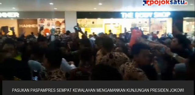 VIDEO : Paspampres Kewalahan Amankan Jokowi