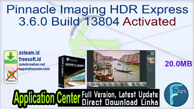 Pinnacle Imaging HDR Express 3.6.0 Build 13804 Activated_ ZcTeam.id