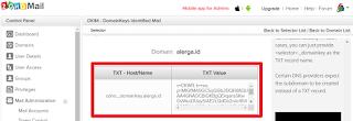 settingan DKIM untuk email pada custom domain blogger