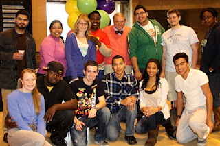 Dr. Wood with students