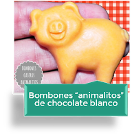 BOMBONES ANIMALITOS DE CHOCOLATE BLANCO