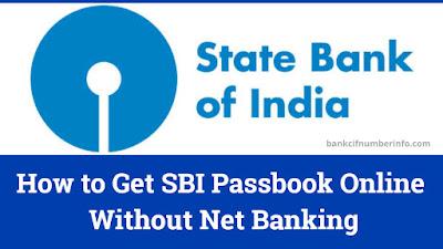 Get SBI Passbook Online
