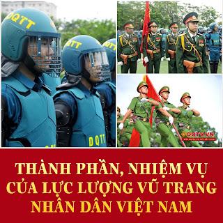 Lực lượng vũ trang nhân dân gồm những thành phần nào?