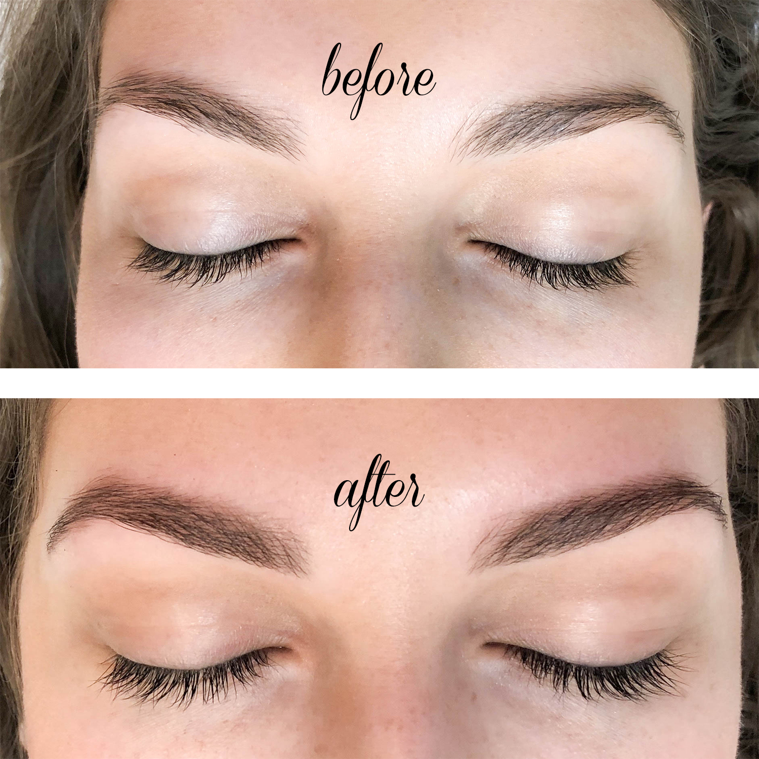 BEFORE & AFTER TINTED BROWS & LASHES FEAT. WAXING THE CITY ...