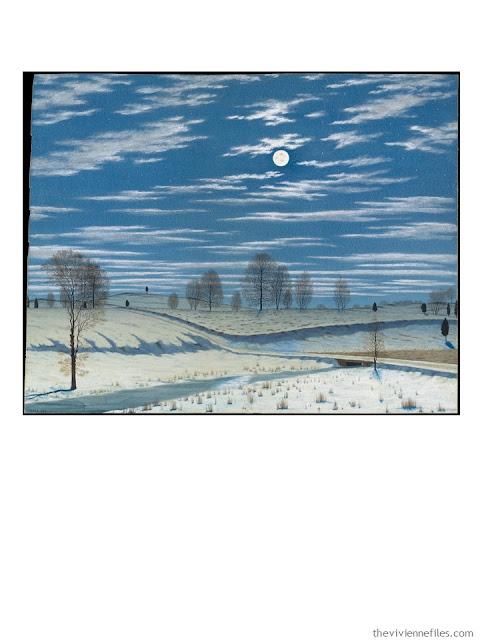 Winter Scene in Moonlight by Henry Farrer