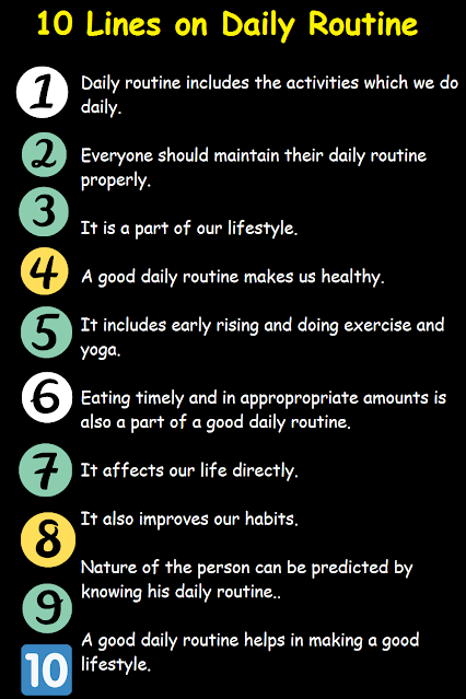 Some Points About Daily Routine