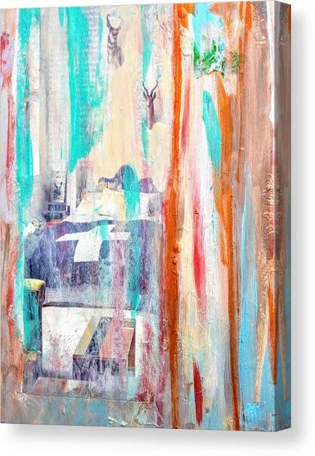 Untitled Abstract Canvas Print, Miabo Enyadike