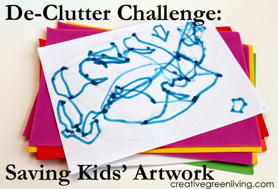De Clutter Challenge What To Do With Kids Artwork Creative Green