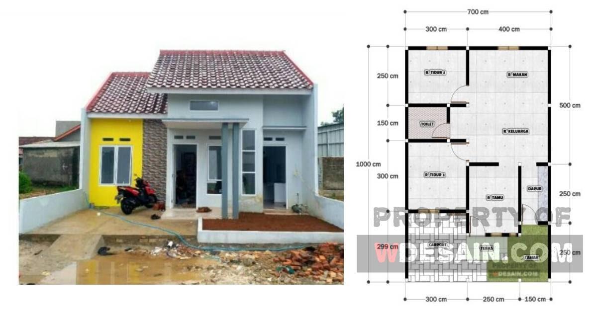 Desain Rumah Ukuran 7x8 2 Kamar Tidur Desain Rumah Minimalis