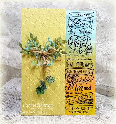 Our Daily Bread Designs Stamp: Your Heart, Our Daily Bread Designs Custom Dies: Lovely Leaves, Fancy Foliage