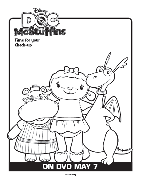 One savvy mom nyc area mom blog 9 free disney doc for Doc mcstuffins free coloring pages