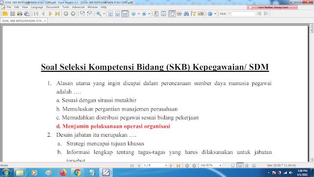 Download contoh soal pppk skb kepegawaian atau sdm dan kunci jawaban